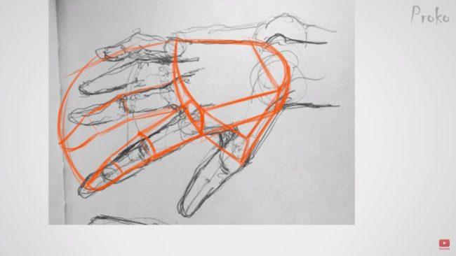 手の描き方画像